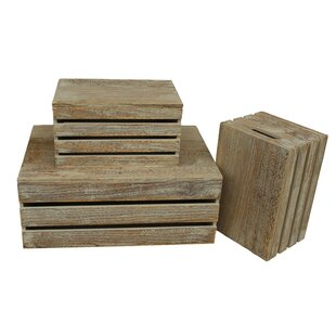 Manufactured Wood 3 Piece Organiser Box Set By Union Rustic