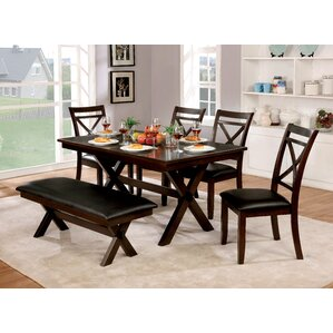 Bexley 6 Piece Dining Table Set by Alcott Hill