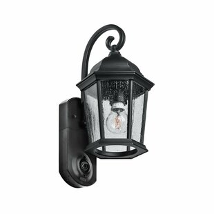 Fleur De Lis Living Hodgkins Security Camera Outdoor Wall Lantern