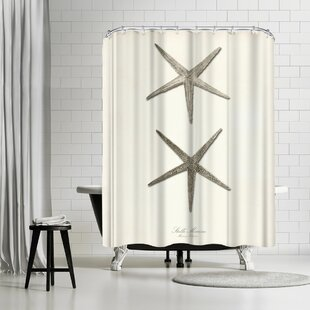 Adams Ale Greige Star Fish Single Shower Curtain by East Urban Home Purchase