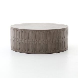 Blayze Stone/Concrete Coffee Table by 17 Stories