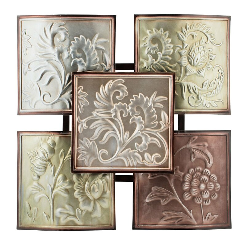 Thistle Panel Wall Décor - Metallic Fleur De Lis Decor
