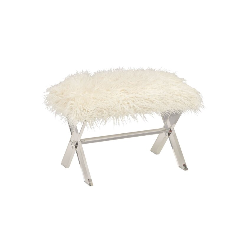 Magnificent Peniste Acrylic Faux Fur Vanity Stool Cjindustries Chair Design For Home Cjindustriesco