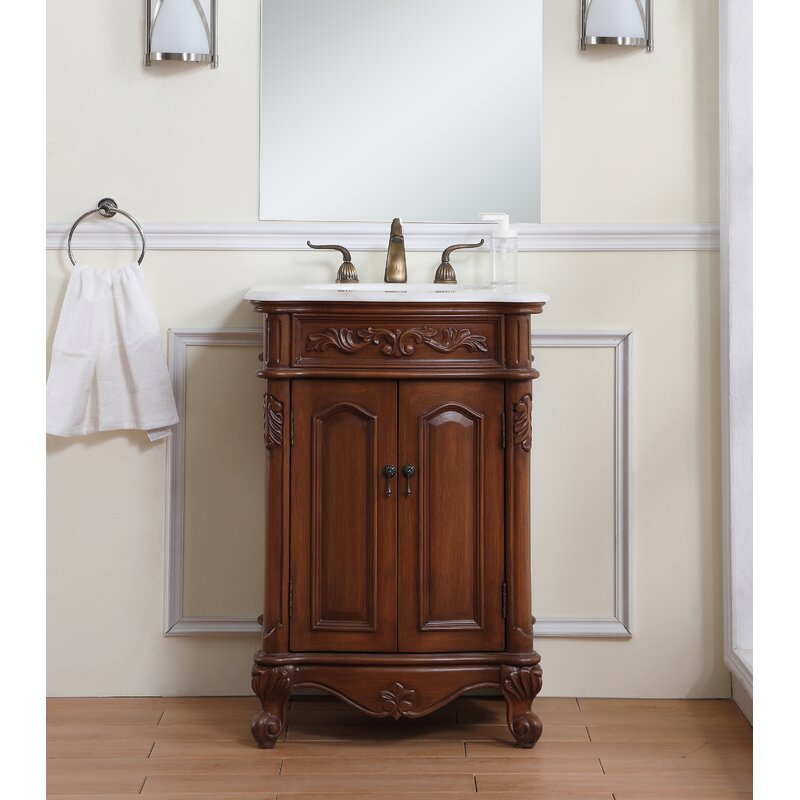 Fleur De Lis Living Gwinn 24 Single Bathroom Vanity Set Reviews Wayfair