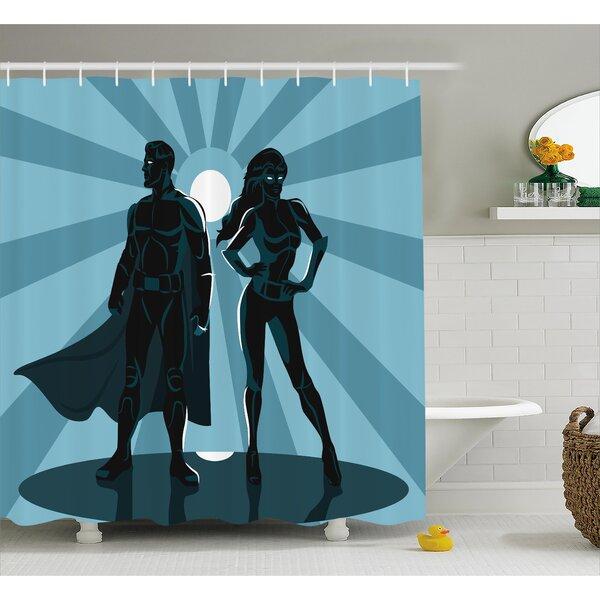 East Urban Home Superhero Unisex Costume Cape Shower Curtain