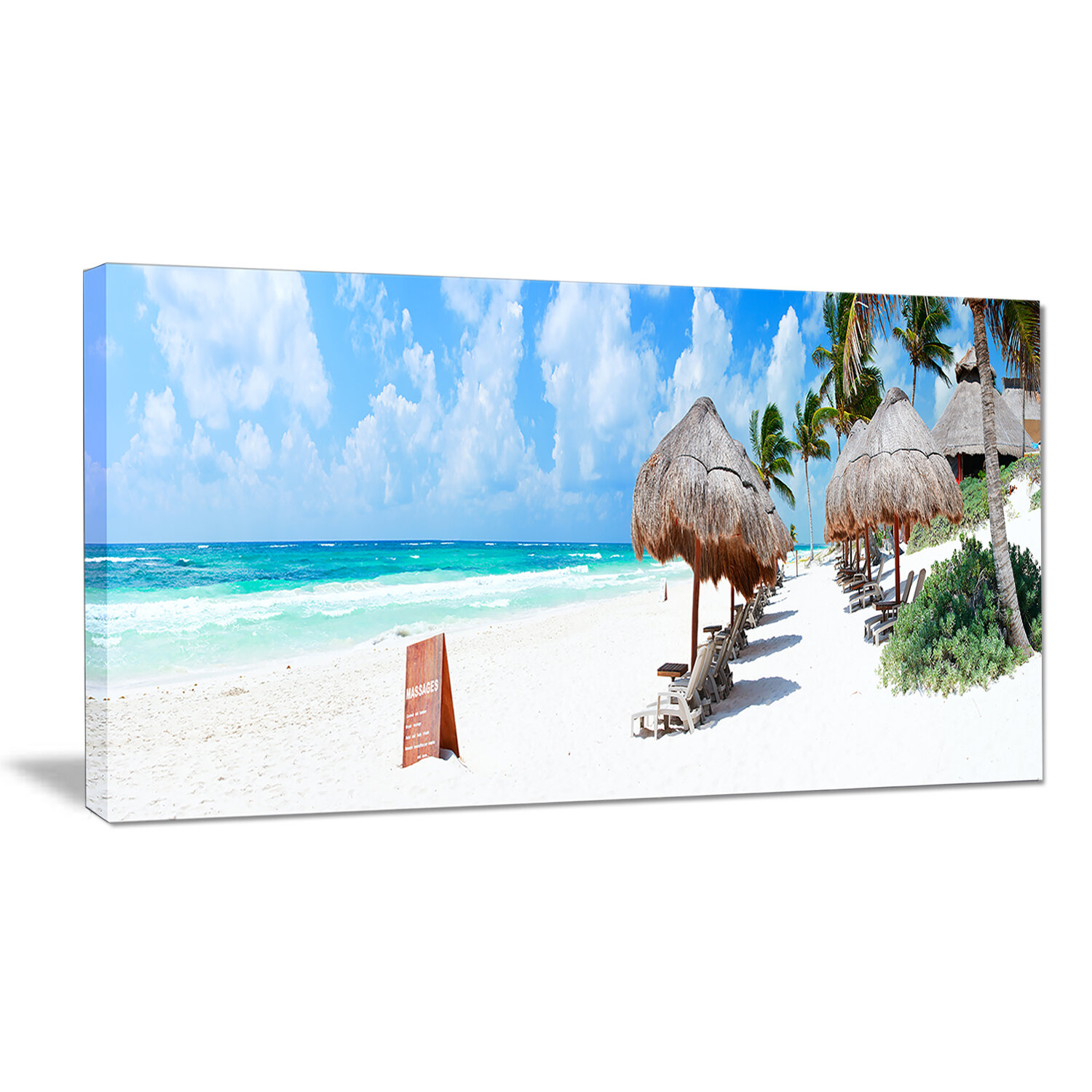 Designart Caribbean Coast In Tulum Mexico Photographic Print On Wrapped Canvas Wayfair
