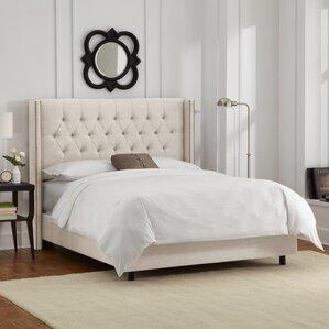 davina upholstered panel bed