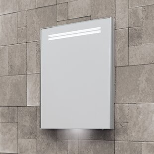 Sharleen 50cm X 70cm Recessed Mirror Cabinet With LED Lighting By Belfry Bathroom