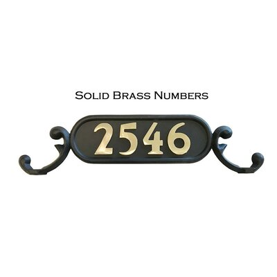 Charleston 1-Line Mailbox Sign Addresses of Distinction Customize: Yes, Font: Solid Brass