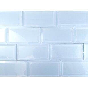 Frosted Elegance 3 x 6 Glass Subway Tile