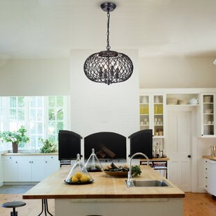 Wrought Studio Ryne 4-Light Globe Chandelier