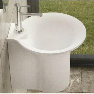 Bucket Stone 19 Semi-Pedestal Bathroom Sink InFurniture
