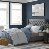 Cassville Upholstered Low Profile Standard Bed by Three Posts