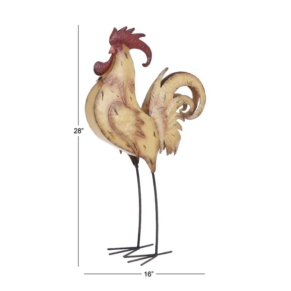 August Grove Adena Rooster Sculpture Reviews Wayfair