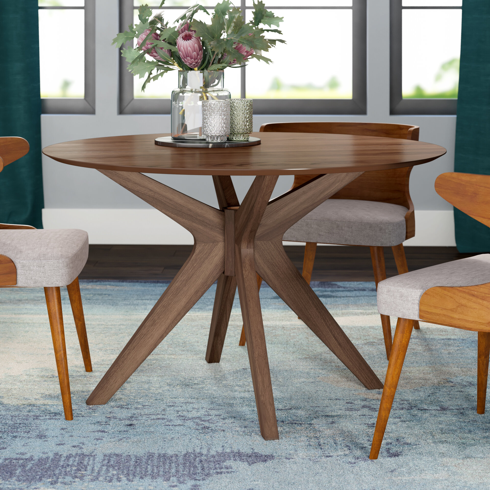 Ivy Bronx Kohut 47 Pedestal Dining Table Reviews Wayfair
