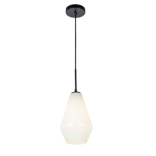 Wrought Studio Veta 1-Light Schoolhouse P..