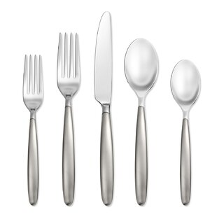 Tidal Frosted 5 Piece Flatware Set, Service for 1