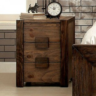 Perrault 3 Drawer Nightstand by Union Rustic