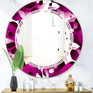 Triple C Abstract Design Pattern VI Modern  Contemporary Frameless Wall Mirror by East Urban Home