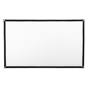 White 4122 x 7328 Portable Folding Frame Projector Screen