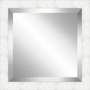 Latitude Run Beveled Plate Wood Accent Mirror