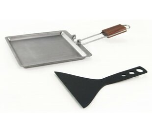 Raclette Stainless Steel Pan with Scraper