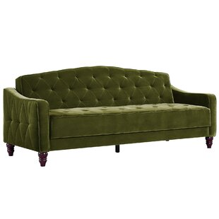Vintage Tufted Convertible Sof..