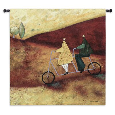 Fine Art Tapestries Rolling Home Together BW Tapestry