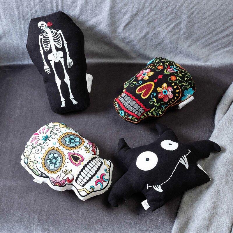 d2a328f3 The Holiday Aisle Sugar Skulls Throw Pillow & Reviews   Wayfair