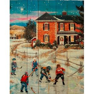 'Country Christmas II' by Patricia Bourque Painting Print on Plaque