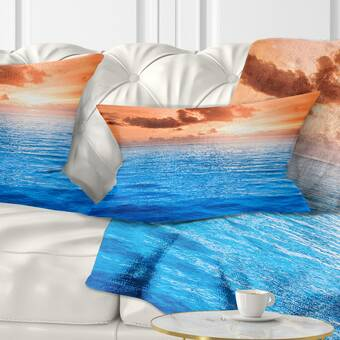 East Urban Home Pier Seascape Colorful Sky And Long Wooden Pier Lumbar Pillow Wayfair