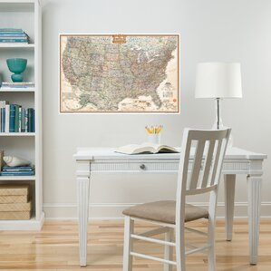 Wall Art Kit National Geographic USA Map Wall Mural Part 63
