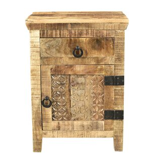 Top Ridder 1 Drawer and 1 Door Nightstand by World Menagerie