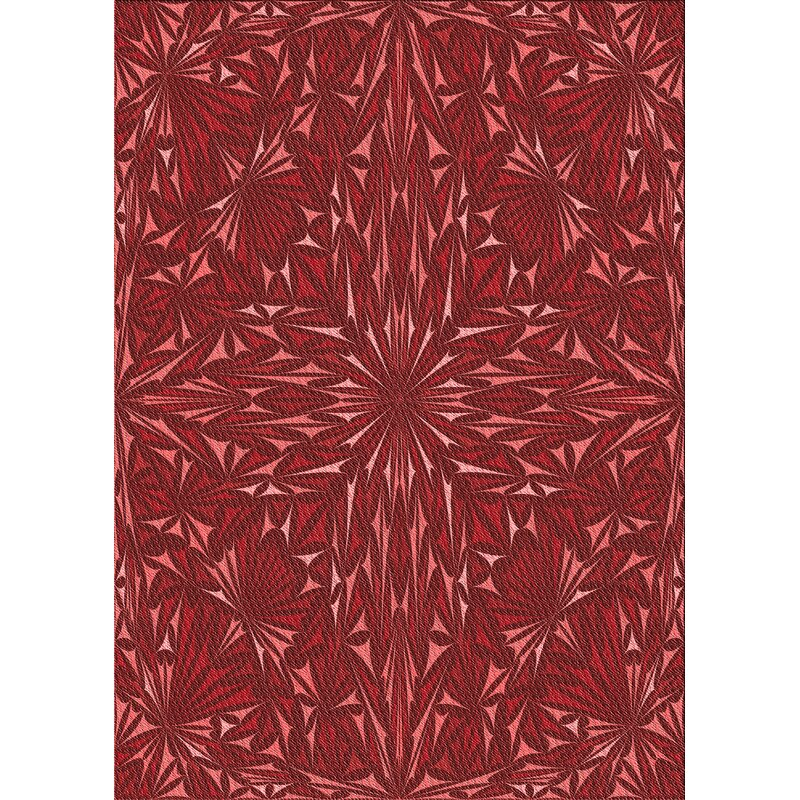 East Urban Home Abstract Wool Red Area Rug Wayfair