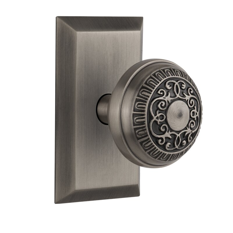 Nostalgic Warehouse Egg & Dart Privacy Door Knob with Studio Plate ...