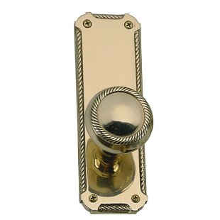 Quartermain Privacy Door Knob with Push Button by BRASS Accents