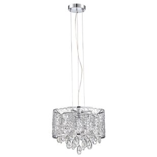 Orren Ellis Hoban 5-Light LED Drum Chandelier