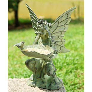 SPI Home Fairy Decorative Tray Bird Feeder