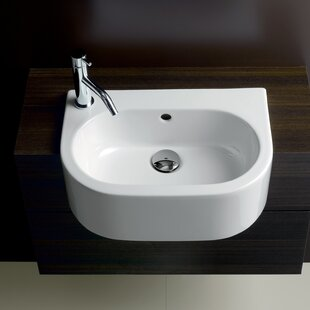 Buy clear Area Boutique Ceramic U-Shaped Vessel Bathroom Sink with Overflow By Bissonnet