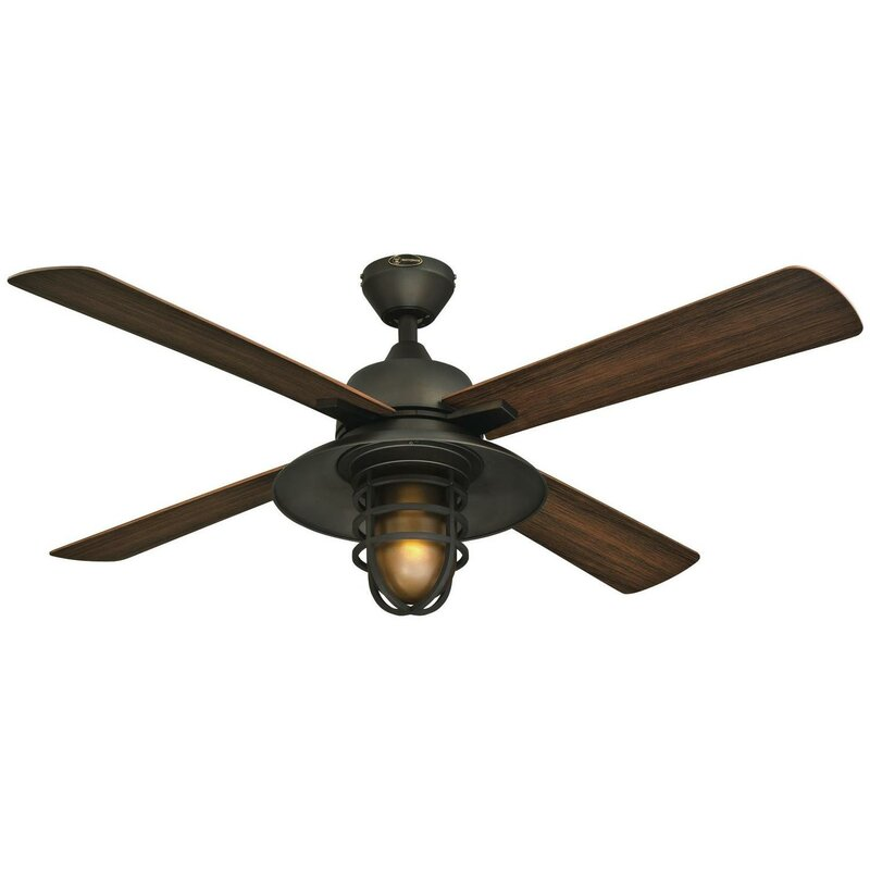 Loon peak 52 roselle one light 4 blade ceiling fan reviews wayfair 52 roselle one light 4 blade ceiling fan aloadofball Images