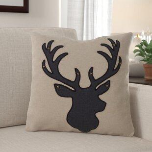 Kaiden Reindeer Silhouette Throw Pillow