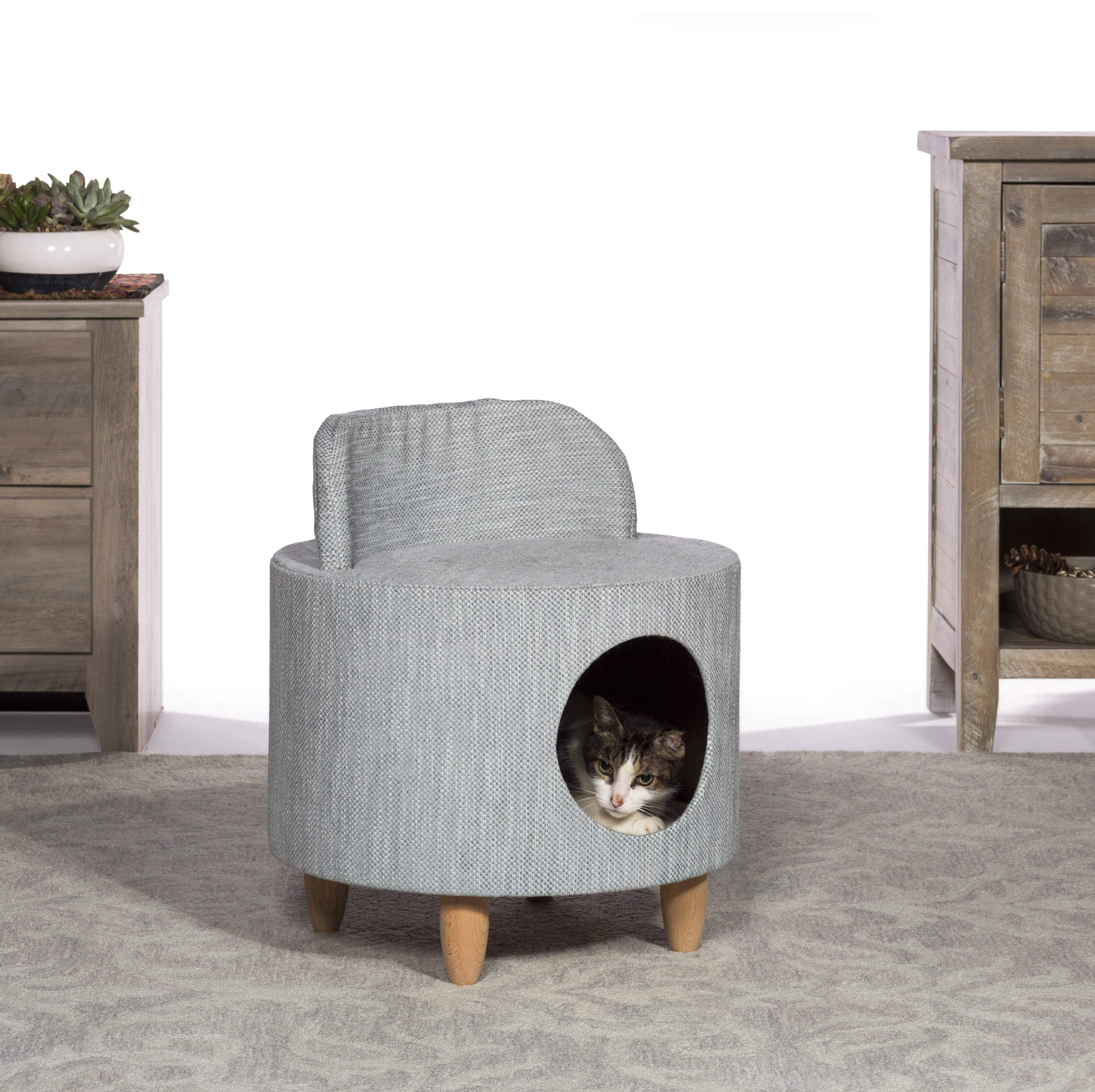 Pleasing 22 Boland Kitty Power Paws Plush Hollywood Chair Cat Condo Customarchery Wood Chair Design Ideas Customarcherynet