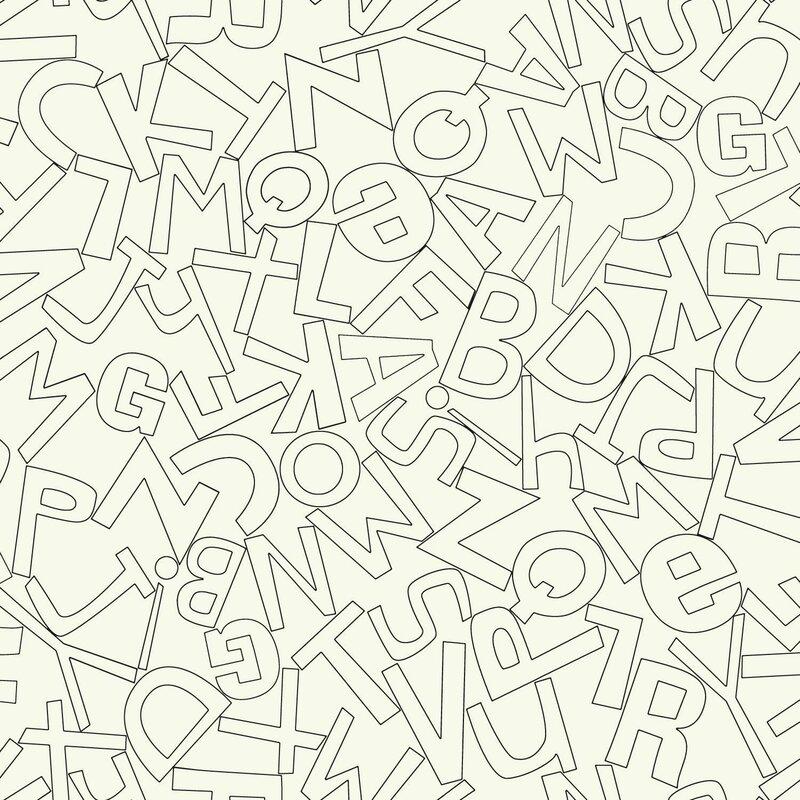 "York Wallcoverings Waverly Kids Alphabet Soup 33' x 20.5"" Wallpaper"