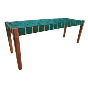 Weave Wooden Bench By Leitmotiv