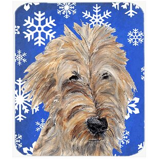 Goldendoodle Snowflake Glass Cutting Board By Caroline's Treasures