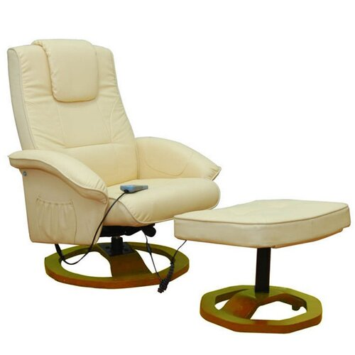 Massagesessel Home Etc Polsterfarbe: Cremeweiß | Wohnzimmer > Sessel > Massagesessel | Home Etc