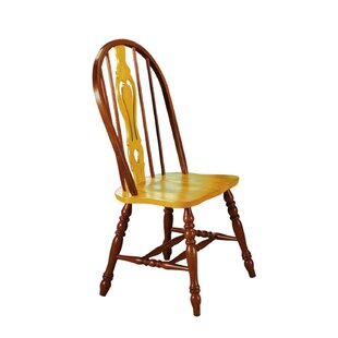 Lockwood Keyhole Back Side Chair (Set Of 2) by Loon Peak Sale