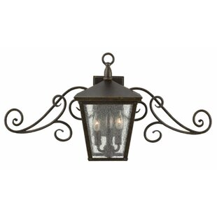 Online Reviews Trellis 3-Light Outdoor Wall Lantern By Hinkley Lighting