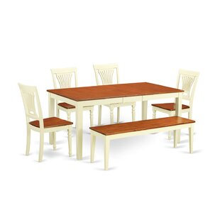 Napoli 6 Piece Dining Set by Wooden Impor..