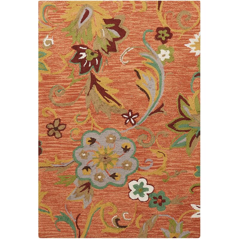 Alcott Hill® Sibley Orange/Green Area Rug | Wayfair